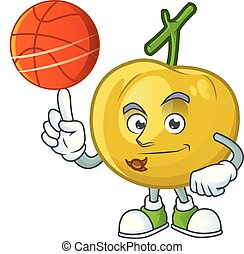 With basketball araza fruit design character for cartoon...