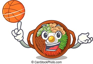 With basketball bibimbap isolated with in the character...