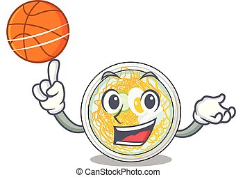 With basketball buchimgae is served in cartoon bowl vector...