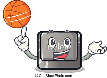 With basketball button delete isolated with the character...