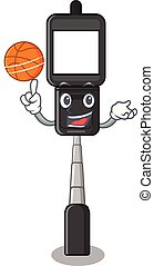 With basketball cell phone holder in cartoon shape