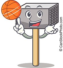 With basketball character of metallic meat tenderizer hammer