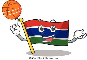 With basketball flag gambia isolated in the character vector...