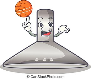 With basketball kitchen hood the character kitchen room...