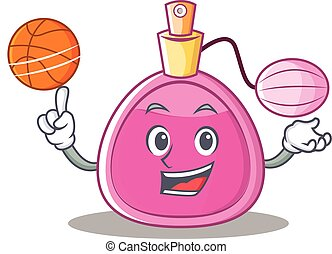 With basketball perfume bottle character cartoon