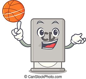 With basketball rom drive mascot isolated with cartoon...