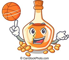 With basketball sea buckthorn oil the character shape vector...