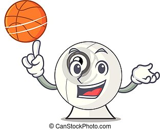 With basketball webcam in the shape of mascot vector...