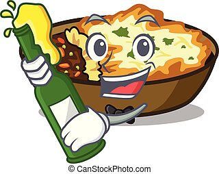 With beer gratin is baked in cartoon oven