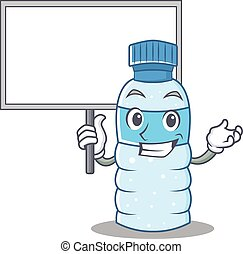 With board bottle character cartoon style