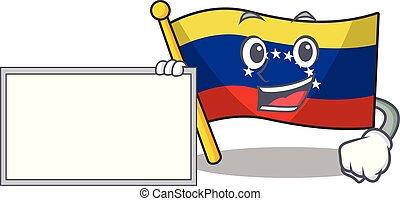 With board flag venezuela with the cartoon shape
