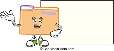 With board folder for saving a file document