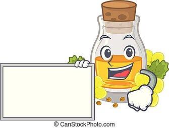With board mustard oil packaged in carton bottle