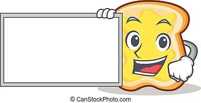 With board slice bread cartoon character vector art...