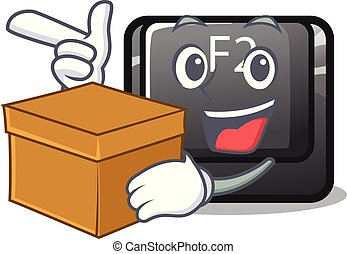 With box cartoon f2 button on the keyboard