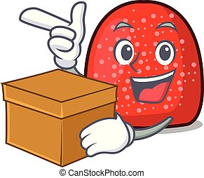 With box gumdrop character cartoon style