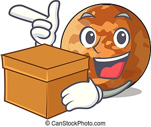 With box picture of a cartoon mercury planet