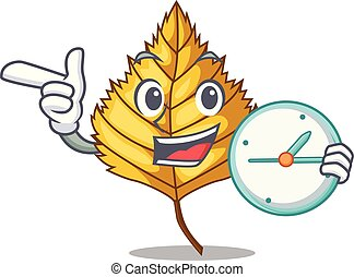 With clock birch leaf isolated in the character vector...