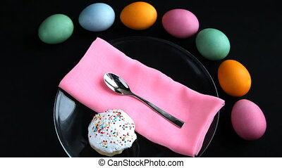 With Easter table took a spoon.