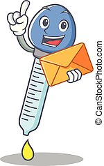 With envelope dropper character cartoon style