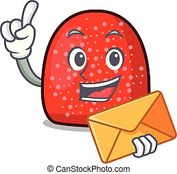 With envelope gumdrop character cartoon style vector ...