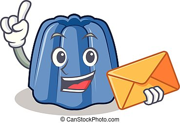 With envelope jelly character cartoon style