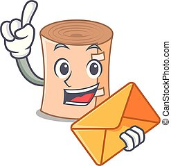 With envelope medical gauze character cartoon