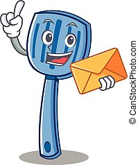 With envelope spatula character cartoon style