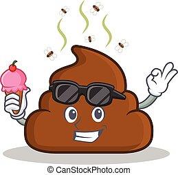 Emoticon With Ice Cream Emoticon Eating An Ice Cream
