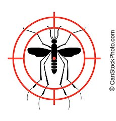 with., malaria., arrêt, virus., signe, interdit, moustique, ...
