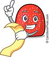 With menu gumdrop mascot cartoon style vector illustration
