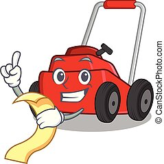 With menu lawnmower toys in the character shape
