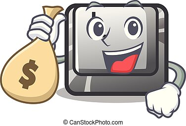 With money bag button K attached to character keyboard