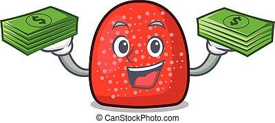 With money bag gumdrop mascot cartoon style vector ...
