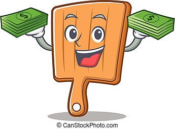 With money kitchen board character cartoon