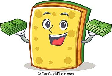 With money sponge cartoon character funny