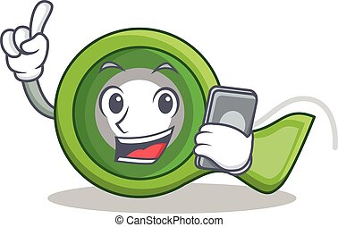 With phone adhesive tape character cartoon