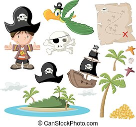 with pirate icons