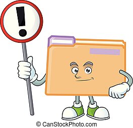 With sign folder for saving a file document