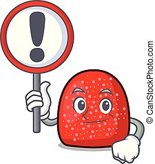 With sign gumdrop character cartoon style