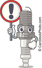 With sign spark plug in the character shape