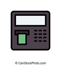 withdraw  flat color icon