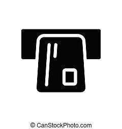 withdraw glyph flat icon