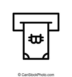 withdraw  thin line icon