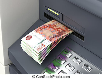Russian Ruble From The ATM