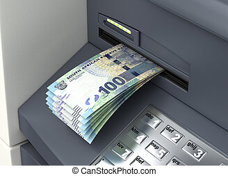 Withdrawal South African Rand From ATM