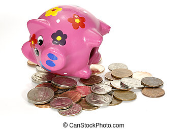 Withdrawal - Photo of a Piggy Bank and Money - Withdrawal...