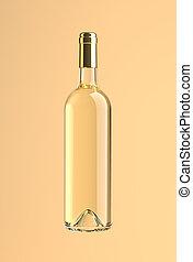 withe, botella, vino