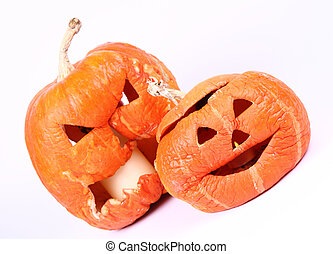 Withered Jack-o-lanterns