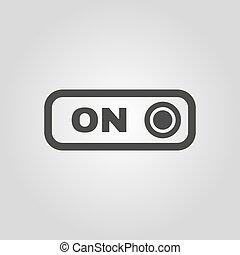 witka, płaski, guzik, symbol., icon.